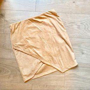 Dresses & Skirts - ❤️ 3 fr $25 NWOT Overlapping Suede-like Mini Skirt